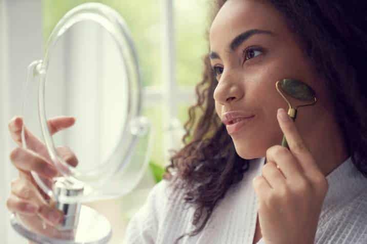 rouleau de jade soin de la peau